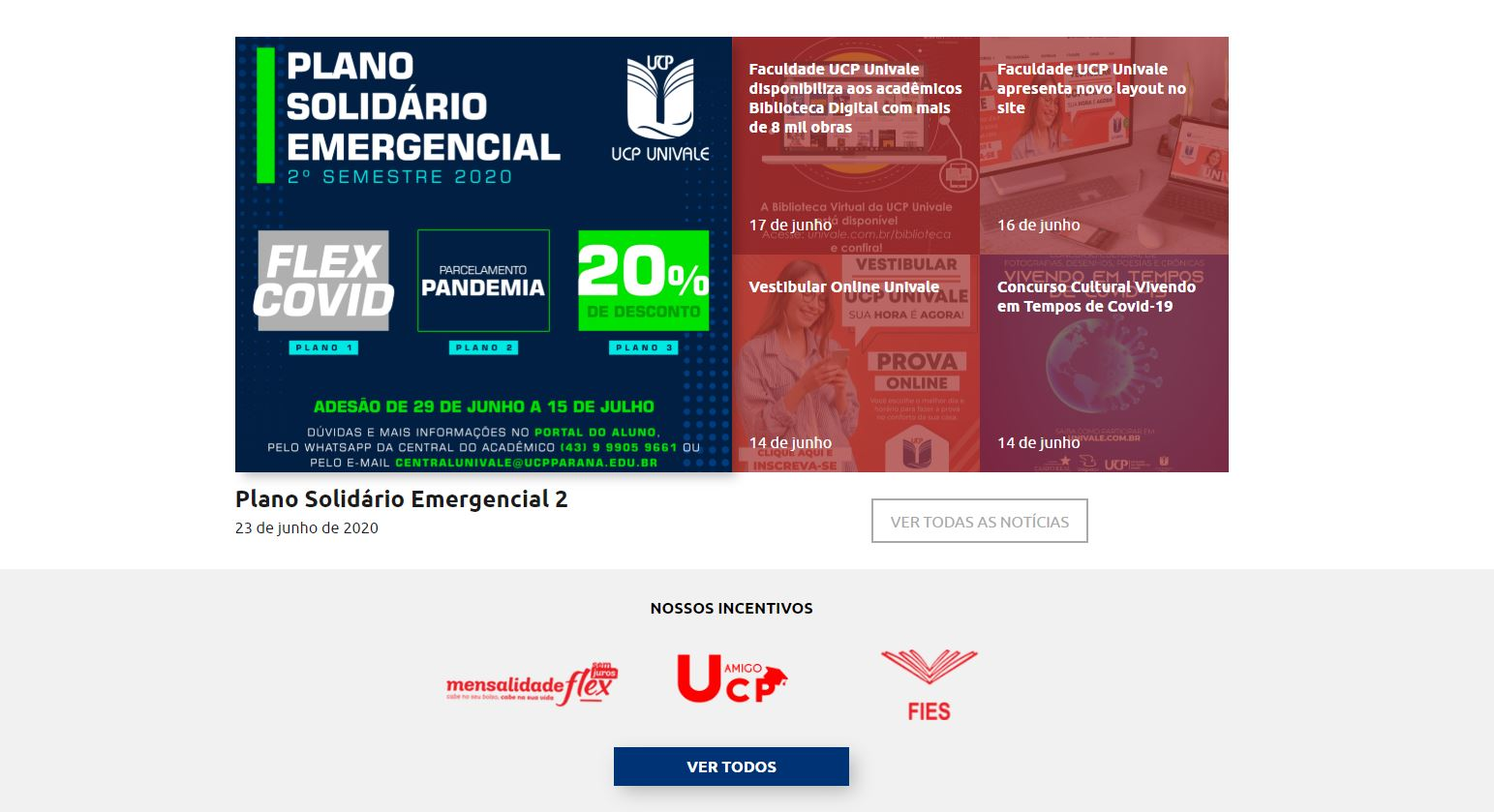 plano emergencial univale